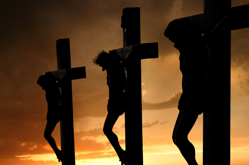 They crucified two robbers with him, one on his right and one on his ...